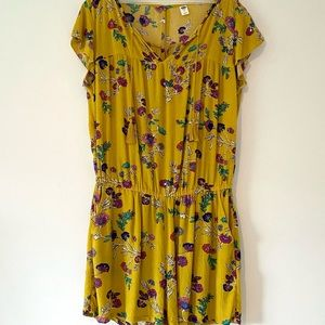 Old Navy Yellow Floral Romper